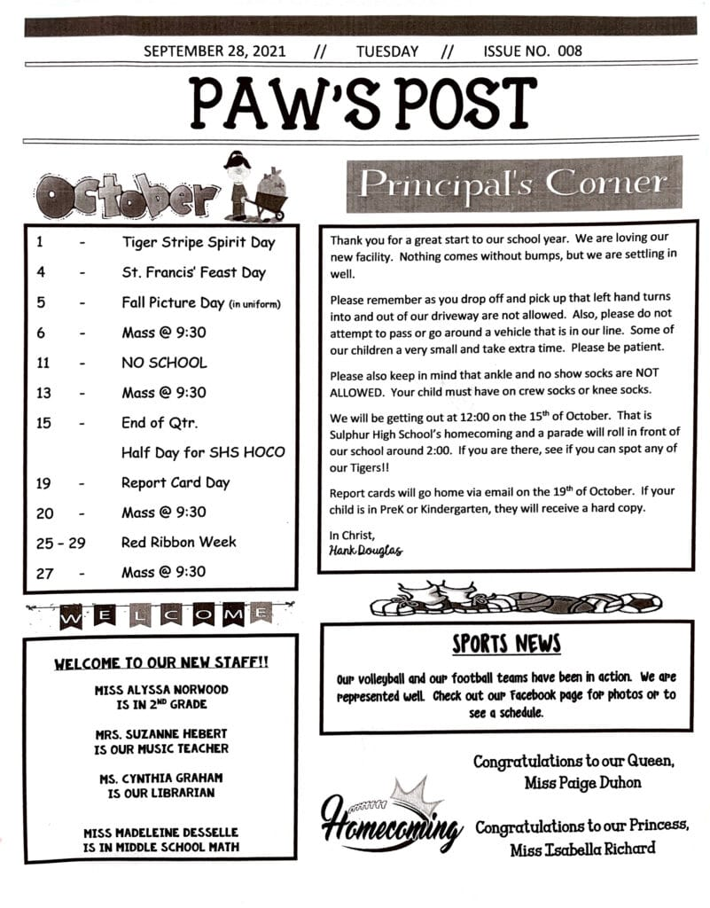Paws Post October 2021